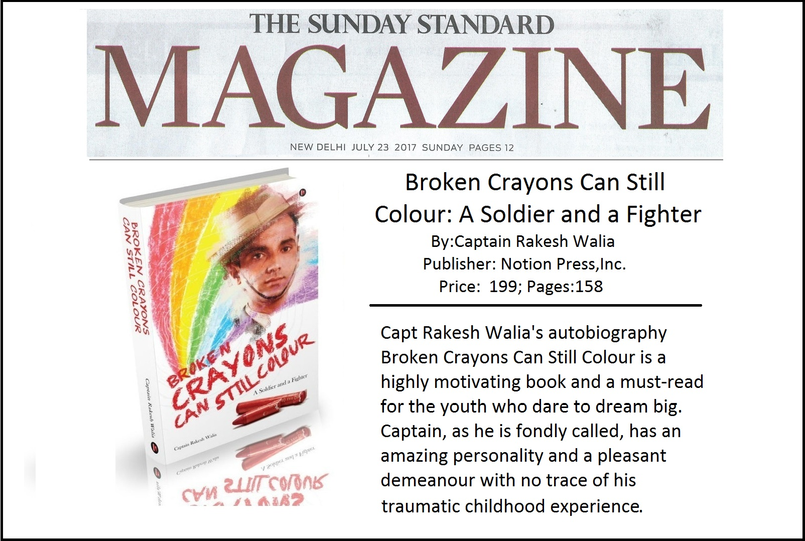 The Sunday Standard Magazine July 30th